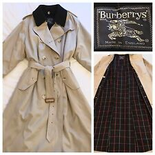 Burberry Trench Coat Classic Beige Mac Vintage Burberry's Wool Lined Raincoat