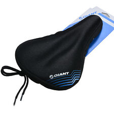 Giant Cycling Bike Bicycle Silicone Gel Pad Seat Saddle Cover Soft Cushion Black