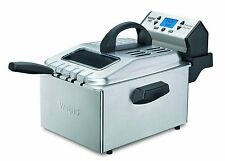 Waring Pro DF280 1800-Watt With Digital Timer Deep Fryer Brushed Stainless Steel