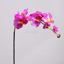 Artificial 12 Heads Orchid Phalaenopsis Real Touch Flower Party Decor Purple