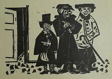 Grimm, Willem (Wilhelm) (1904-1986) - Holzschnitt Drei Gestalten