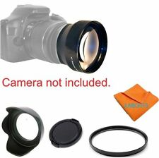 2X Tele Converter Lens +ACCESSORIES FOR CANON EOS REBEL CAMERAS T3 T3I T4 T4I T2