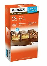 Detour Lower Sugar Protein Bar Delicious Flavor Variety Pack 1.5 oz. 20ct