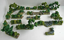 World War 2 Mandertory Miniatures resin 28mm Bocage terrain set 2, Bolt Action