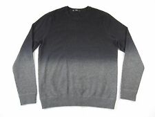 VINCE M28296239 BLACK GRAY FADE LARGE WOOL CASHMERE CREWNECK SWEATER MENS NWT
