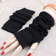 New Fashion Black Women Girls Ladies Soft Arm Warmer Long Fingerless Gloves