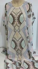Victoria's Secret Bling Bohemian Beach Swim CoverUp Caftan Maxi Dress Long Small