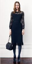BRAND NEW Tory Burch Tiana Sheath Lace Black Cocktial Dress Size M Retail$425
