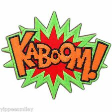 KABOOM Super Hero Comic DC Sound Action Marvel Batman Hulk Iron-On Patches #0006