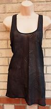 LIMITED COLLECTION BLACK ABSTRACT GOLD GLITTER  BLOUSE TOP TUNIC CAMI VEST 12 M