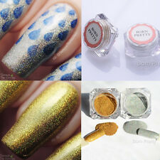 2boxes Gold Silver Holographic Glitter Powder Nail Art Holo Glitter Dust Powder