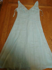 BNWT ladies green chiffon dress from Monsoon. size 8. RRP £75