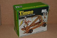 Vintage Timpo Toys Working Medieval Catapult & 2 Crusaders Set Boxed