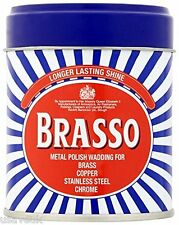 6 X BRASSO METAL POLISH WADDING FOR BRASS COPPER STAINLESS CHROME DURAGLIT 75G