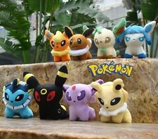 "Lot 8 Pcs Pokemon Plush Toy 5"" Eevees Nintendo Characters Stuffed Animal Doll"