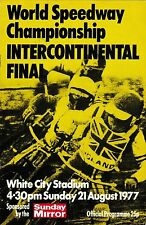 Speedway Programme WORLD CHAMPIONSHIP INTERCONTINENTAL FINAL Aug 1977 White City