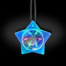 LED LIGHT UP FLASHING STAR INFINITY NECKLACE RAVE PARTY TUNNEL BURNING MAN FAVOR