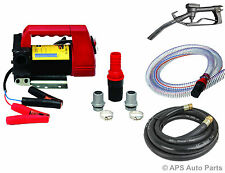 Diesel Transfer Pump Kit 12 Volt DC Portable Fuel Self Priming Oil Bio 45L/Min