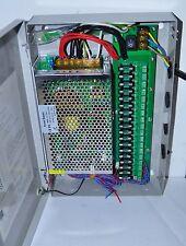 Netzteil für Überwachungskameras 18 Ausgänge DC12V 20A Wandmontage