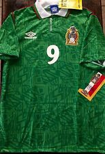 AUTHENTIC El Tri Umbro Vtg Mexico Soccer Jersey 92 S Football Shirt Hugo Sanchez