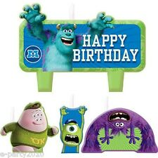 MONSTERS UNIVERSITY INC CANDLE SET (4)~ Birthday Party Supplies Cake Decorations