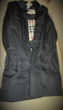 Burberry Men's Black Single Breasted Trench Coat
