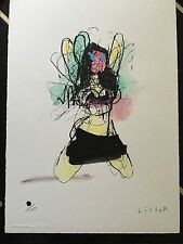 Anthony Lister MINI SKIRT DANCER handfinished with COA (w banksy invader pic )