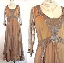 Downton Abbey Dress Nataya Vintage Style dresses XL SALE Brown Lace Titanic NWT