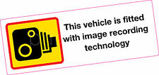 Image Recording Vehicle Sticker Large Vinyl Print Secuirty Taxi Lorry Ambulance