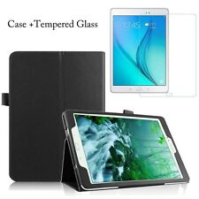"""Samsung Galaxy Tablet Leather Case Cover Tab S2 9.7"""" T810 T815 E 9.6"""" T560 T561"""