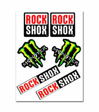 RockShox Monster Green Fork Mountain Bike MTB Tuning Decal Set Stickers Vinyl