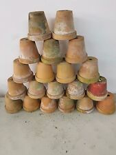 Lot of 20 LARGE Vintage Terra Cotta Flower Pots - Shabby Chic - 50 YEARS OLD
