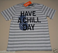 Gymboree boy gray striped tee shirt size 3 3T NWT top boys 100% cotton chill day