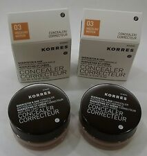 KORRES Quercetin & Oak Antiageing Concealer, 03 Medium  0.16 Oz - Pack of 2 -NIB