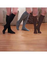 Womens 3 Pair Fleece-Lined Boot Socks -Black/Brown/Grey