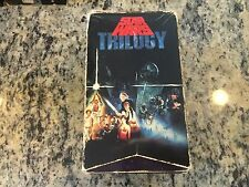 STAR WARS TRILOGY UNEDITED THEATRICAL VERSIONS CBS FOX 1990 OOP 3 VHS BOX SET!