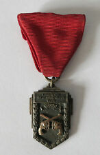 1932 LONG BEACH RIFLE AND REVOLVER CLUB RAPID FIRE MEDAL, TV ALLEN CO STERLING