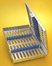 Strumenti Dentali sterilizzazione CASSETTA Vassoio per Rack per 10 strumenti 282412/10
