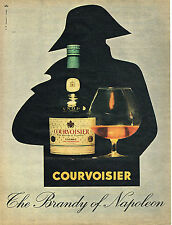 PUBLICITE ADVERTISING    1961  COURVOISIER   THE BRANDY OF NAPOLEON