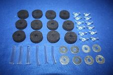 Cymbal Felts BLACK + Sleeves + Wingnuts + Washers For Drum Kits SET OF 38 PIECES