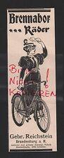 BRANDENBURG, Werbung 1898, Gebrüder Reichstein Brennabor Räder