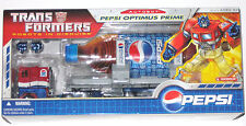 Transformers Pepsi Optimus Prime Figure Robots in Disguise Hasbro 2007 MISB