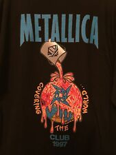 Metallica Club T shirt 1997 Size XXL Vintage Covering the World RARE Official