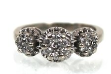 10K GOLD & CLUSTER DIAMOND RING  * STUNNING! * 3 Daisy Ring .40 CTW