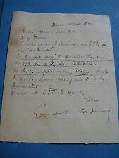 ERNEST LA JEUNESSE Autographe Signé 1897 CRITIQUE CARICATURISTE REVUE BLANCHE