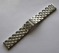 New Men 24mm SOLID BRUSHED / POLISHED HEAVY STAINLESS STEEL WATCH BAND,BRACELET