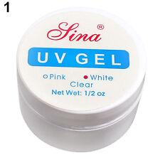 Nail Art Primer Base UV Gel Top Coat Builder Tips Set Clear White Pink 3 Color