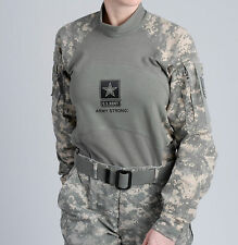 USGI ACU MASSIF ARMY COMBAT SHIRT ACS LARGE W/ US ARMY STRONG LOGO NWT AOR1