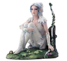 "5.75"" Tree Elf Huntress Fairy Statue Fantasy Magic Figure Figurine"