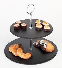 Naturschiefer 2 stufige Etagere Tortenständer Muffinständer Desserttower Buffet